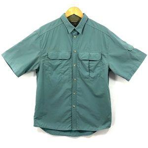 REI Mens Short Sleeve Button Down Shirt UPF 40+ F1